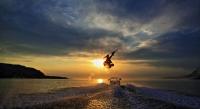 Wakeboard,boat,Scotland,Sunset,Scottish_