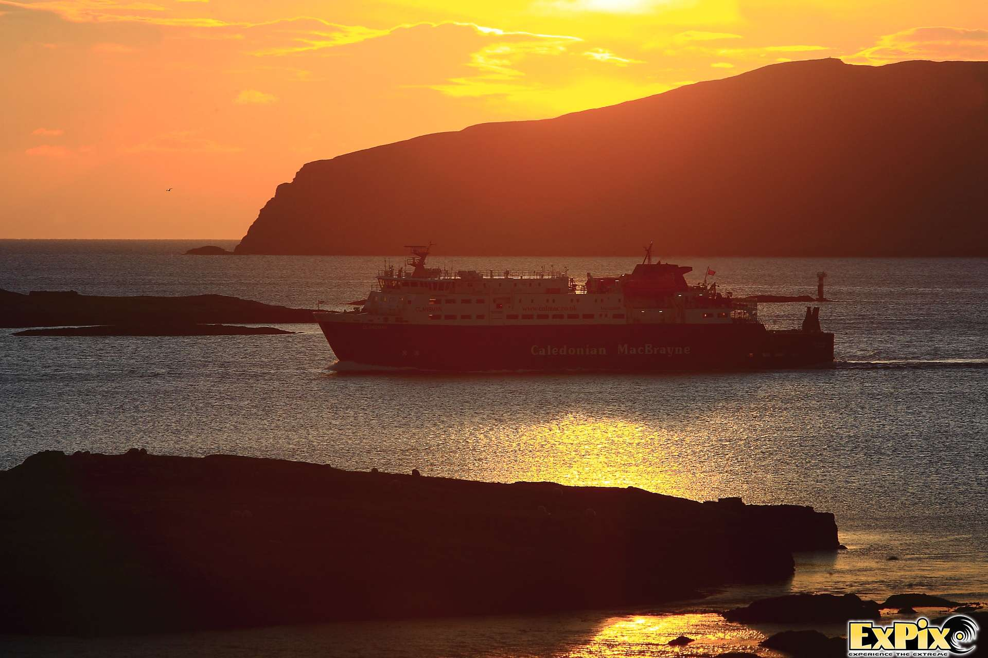 Calmac ferry arriving in barra