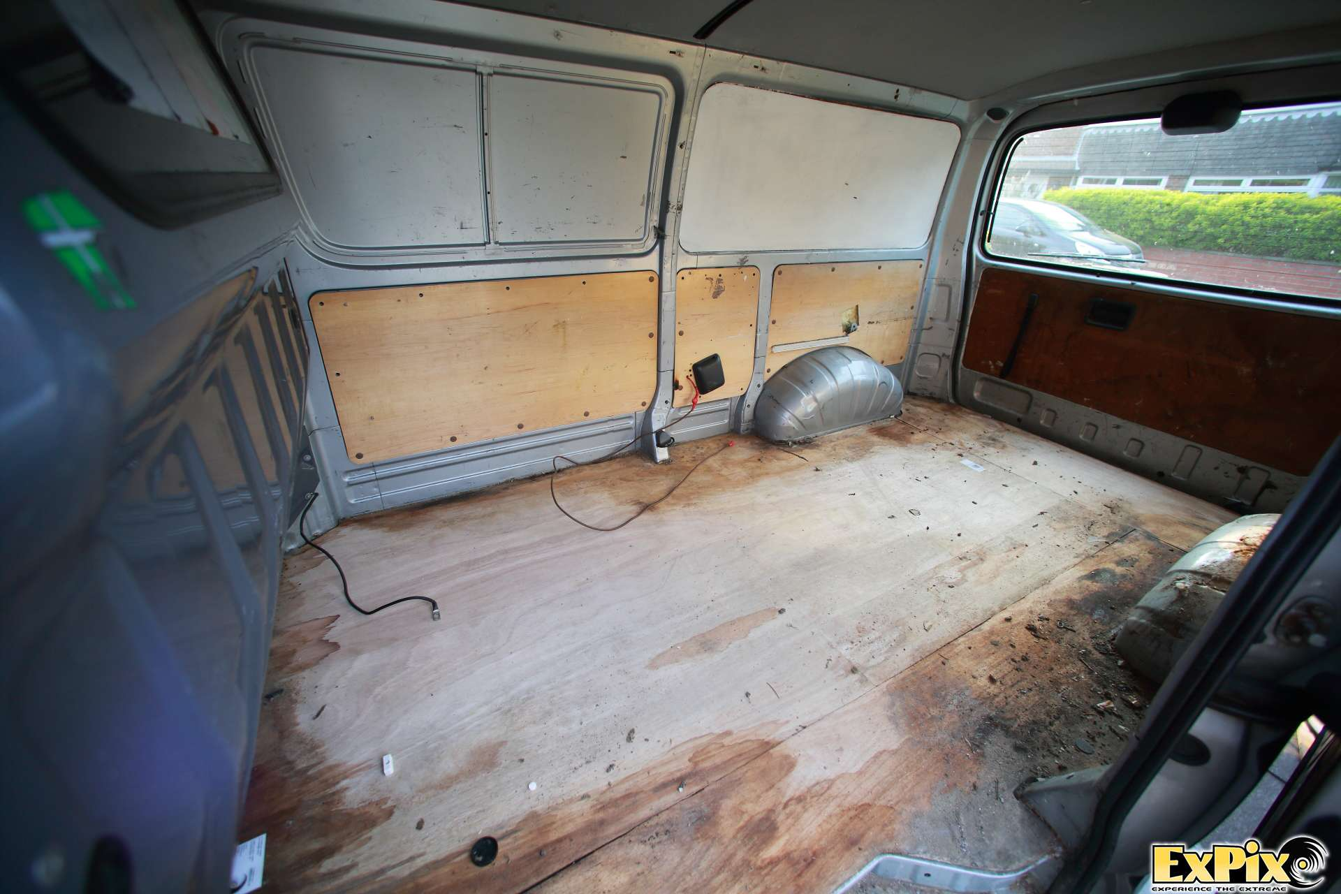 Empty Toyoat Hiace LWB ready for refit