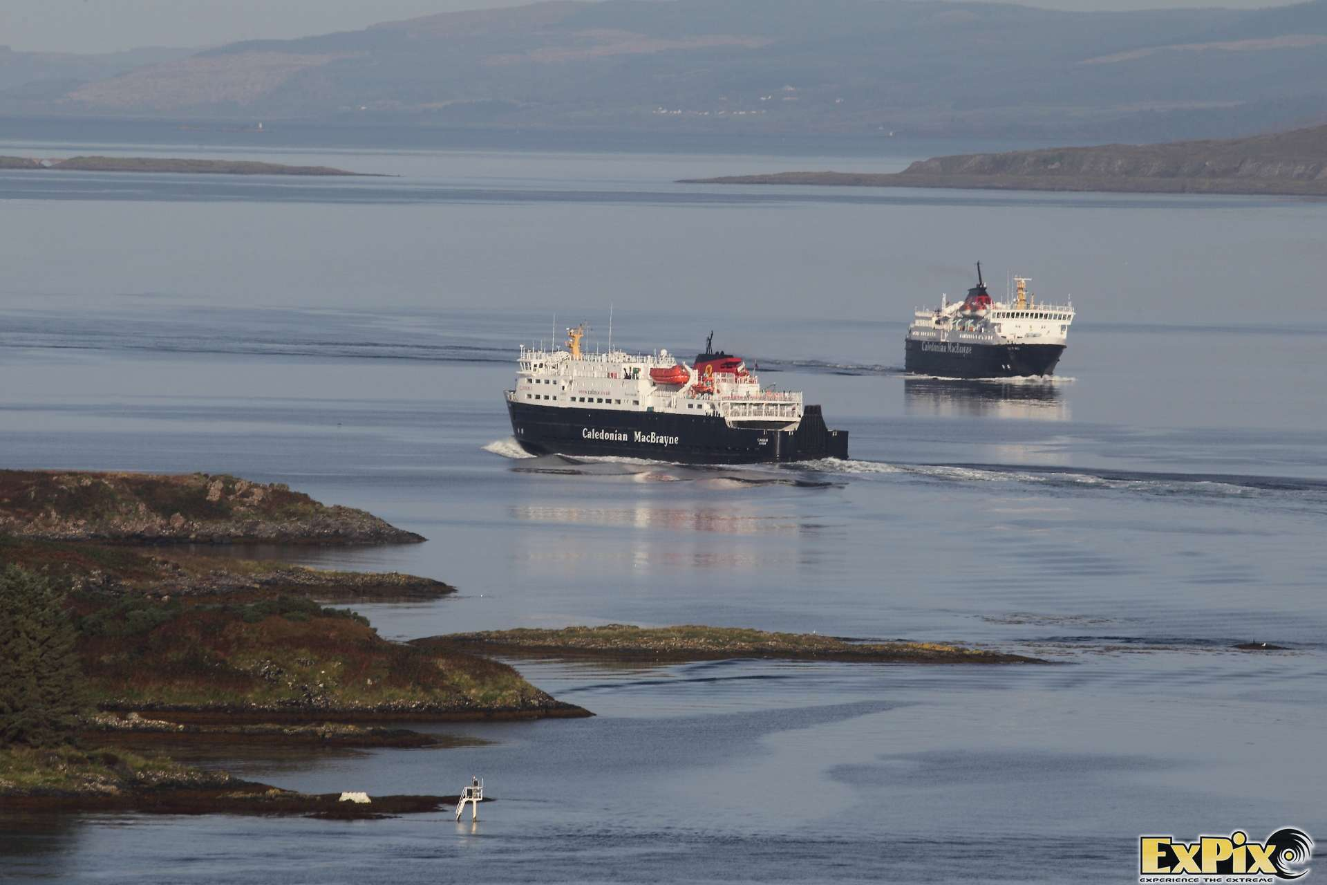 Calmac Ferries passing at Oban