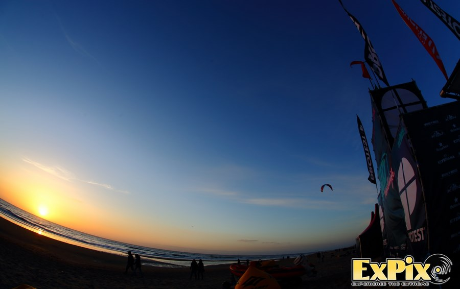 The Kiteboard Open at Sunset